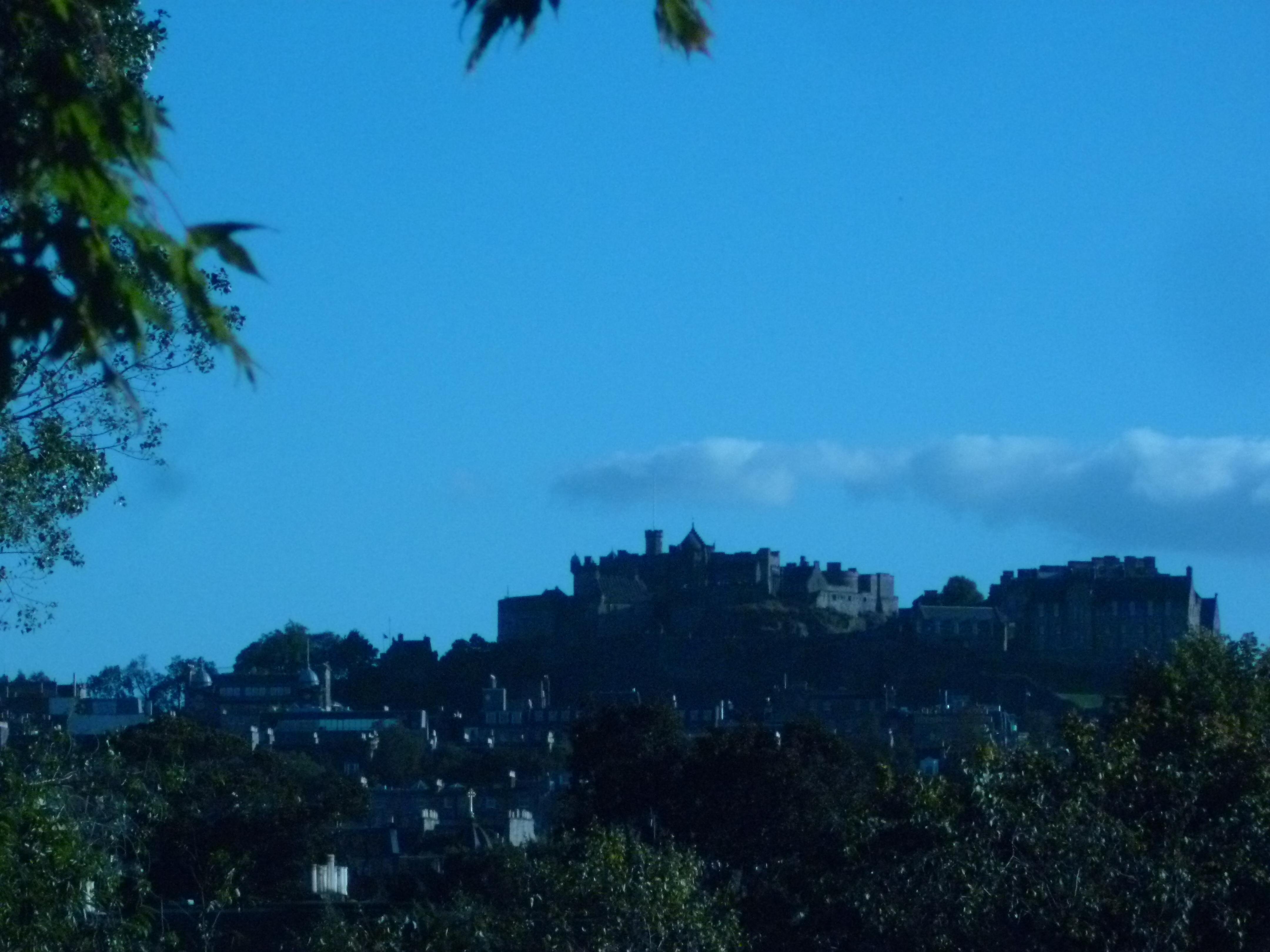Le fameux château, symbole de la ville d'Edimbourg